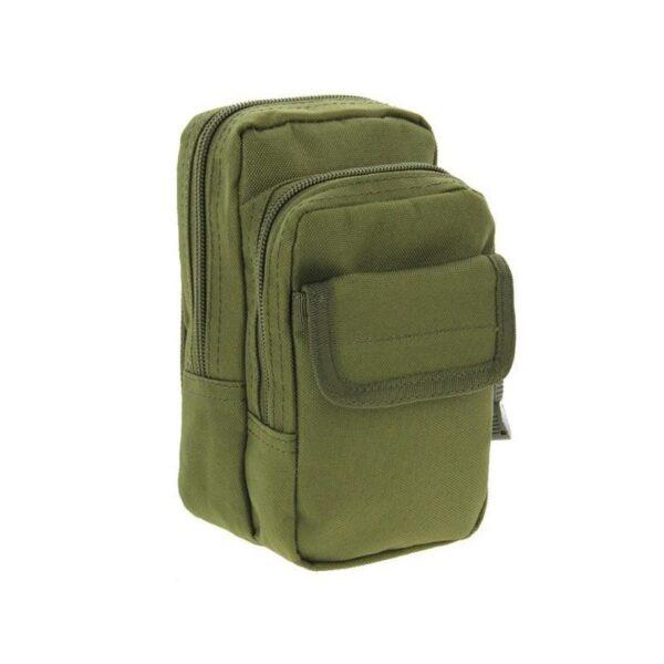 37336 - Многофункциональная сумка Waist Bag с тремя отделениями из плотного нейлона