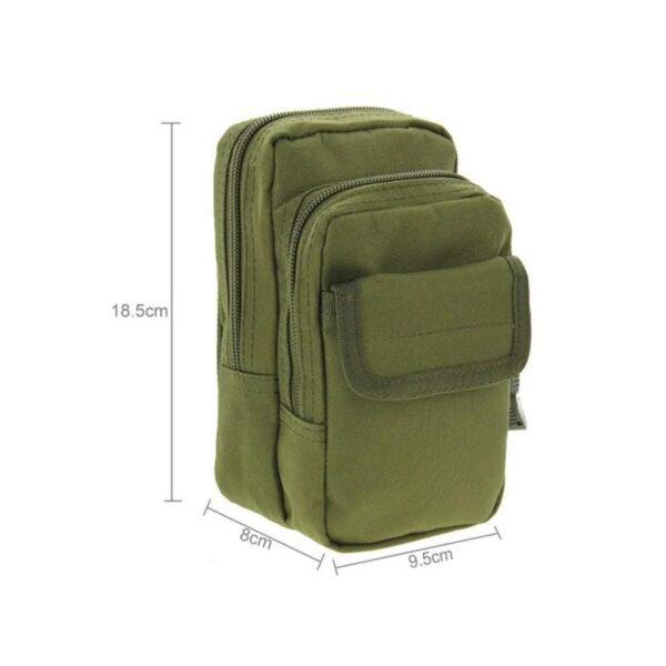 37339 - Многофункциональная сумка Waist Bag с тремя отделениями из плотного нейлона
