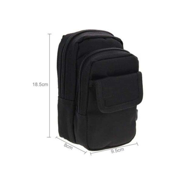 37346 - Многофункциональная сумка Waist Bag с тремя отделениями из плотного нейлона