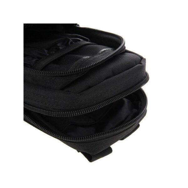 37349 - Многофункциональная сумка Waist Bag с тремя отделениями из плотного нейлона