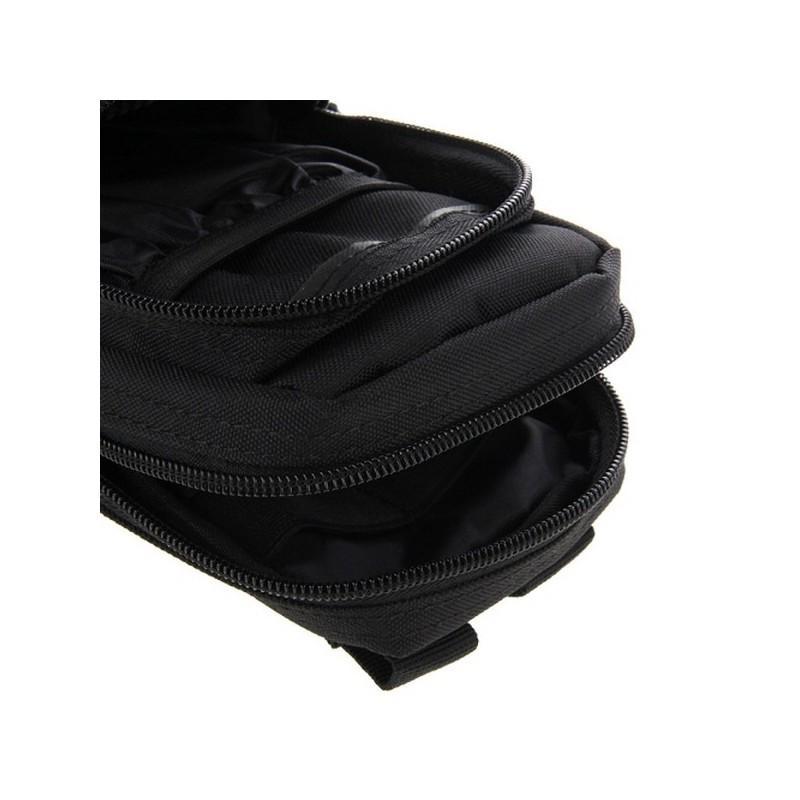 Многофункциональная сумка Waist Bag с тремя отделениями из плотного нейлона 213193