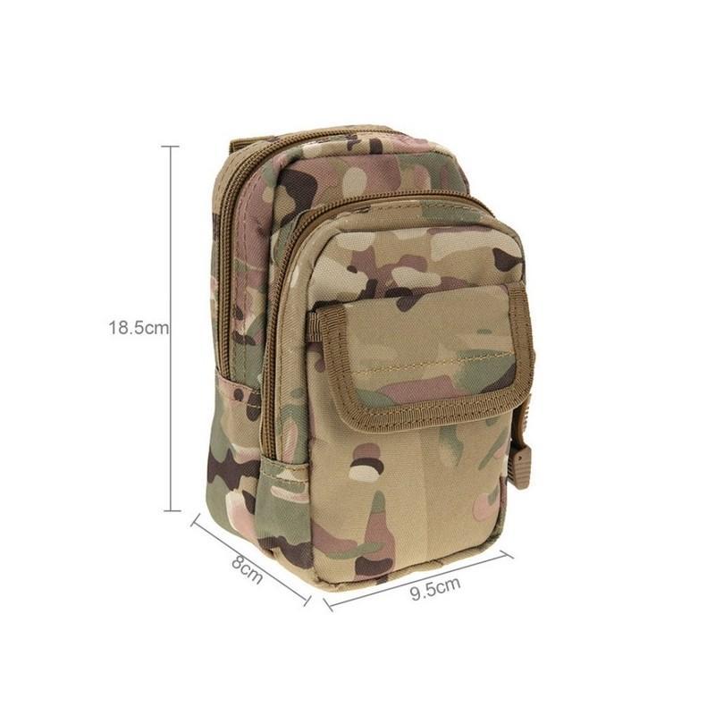 Многофункциональная сумка Waist Bag с тремя отделениями из плотного нейлона 213197