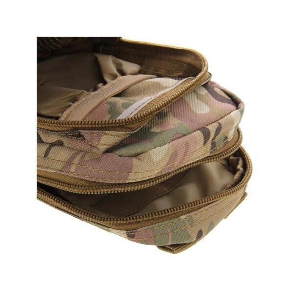 37356 - Многофункциональная сумка Waist Bag с тремя отделениями из плотного нейлона