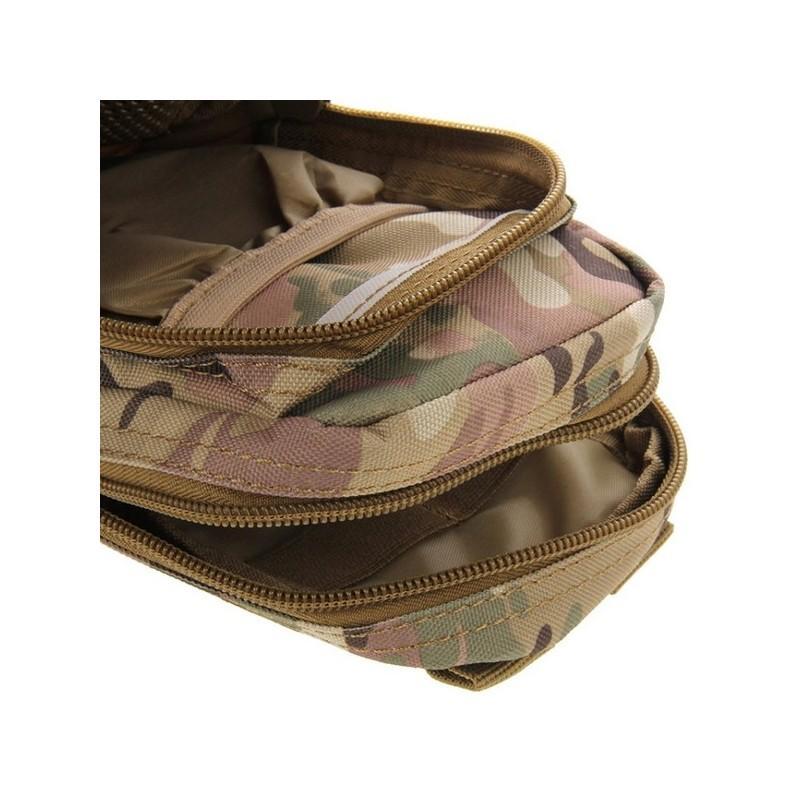 Многофункциональная сумка Waist Bag с тремя отделениями из плотного нейлона 213200
