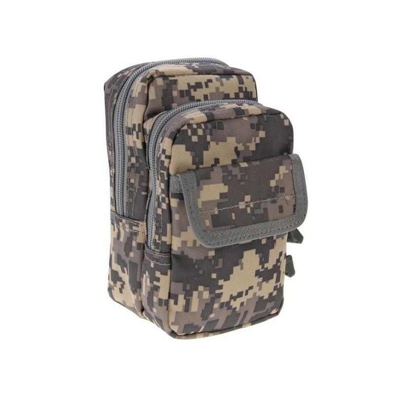Многофункциональная сумка Waist Bag с тремя отделениями из плотного нейлона - Камуфляж АСУ
