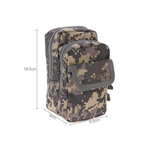 37360 - Многофункциональная сумка Waist Bag с тремя отделениями из плотного нейлона
