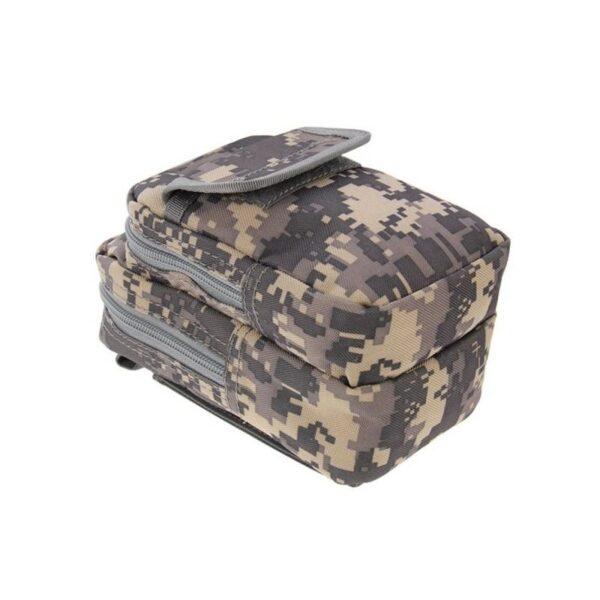 37362 - Многофункциональная сумка Waist Bag с тремя отделениями из плотного нейлона