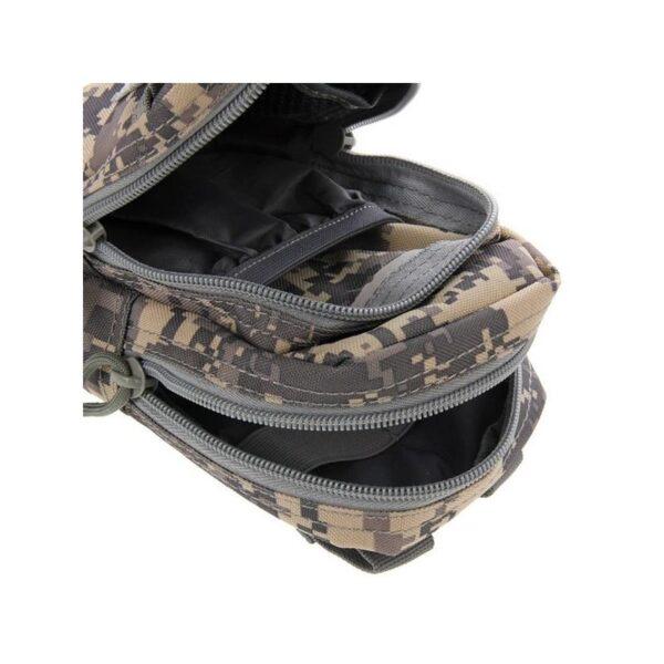 37363 - Многофункциональная сумка Waist Bag с тремя отделениями из плотного нейлона