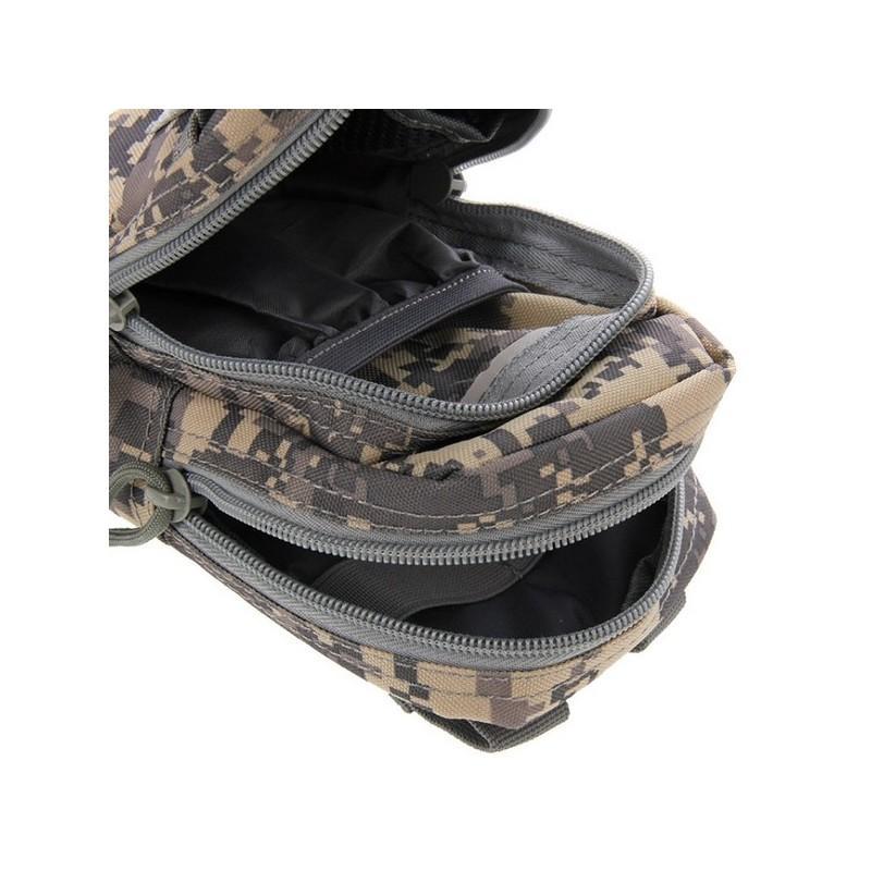 Многофункциональная сумка Waist Bag с тремя отделениями из плотного нейлона 213206