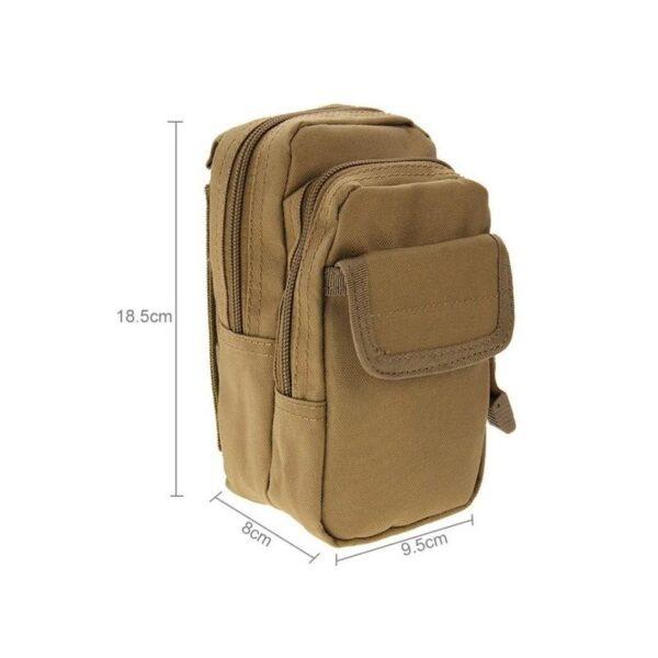 37367 - Многофункциональная сумка Waist Bag с тремя отделениями из плотного нейлона