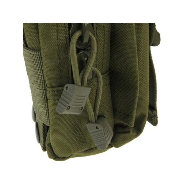 37374 - Прочная поясная сумка Density Bag - нейлон, на молнии, карман, крепление MOLLE / PALS