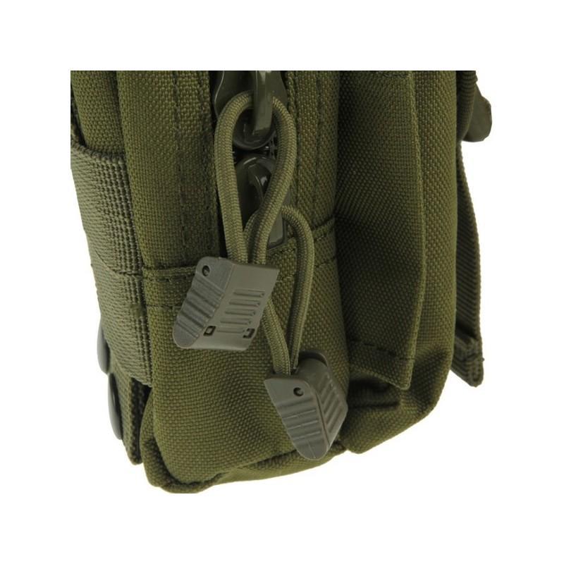 Прочная поясная сумка Density Bag – нейлон, на молнии, карман, крепление MOLLE / PALS 213216