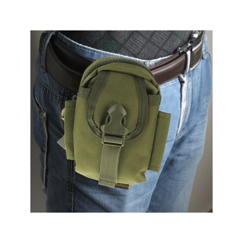 Прочная поясная сумка Density Bag – нейлон, на молнии, карман, крепление MOLLE / PALS 213218