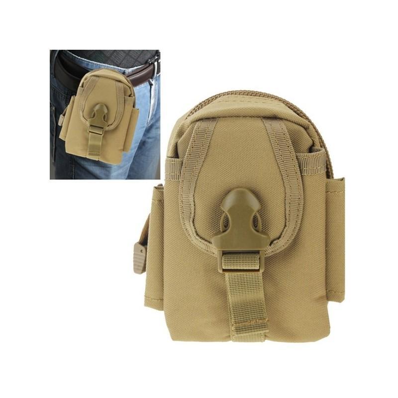 Прочная поясная сумка Density Bag - нейлон, на молнии, карман, крепление MOLLE / PALS - Хаки