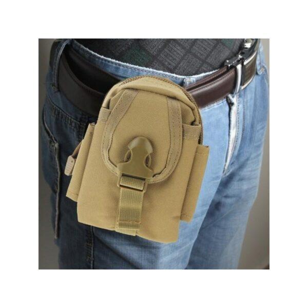 37381 - Прочная поясная сумка Density Bag - нейлон, на молнии, карман, крепление MOLLE / PALS