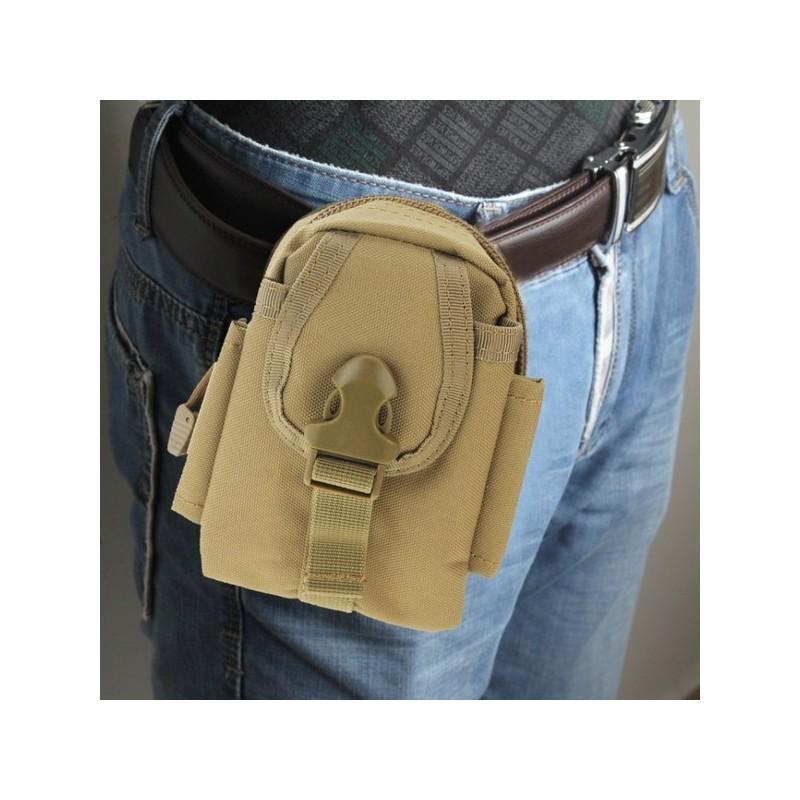 Прочная поясная сумка Density Bag – нейлон, на молнии, карман, крепление MOLLE / PALS 213223