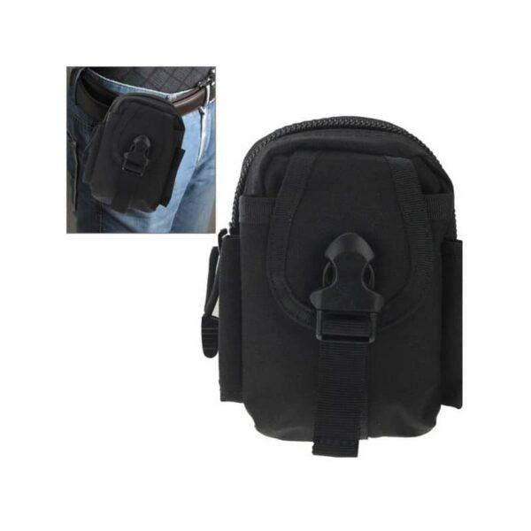 37382 - Прочная поясная сумка Density Bag - нейлон, на молнии, карман, крепление MOLLE / PALS