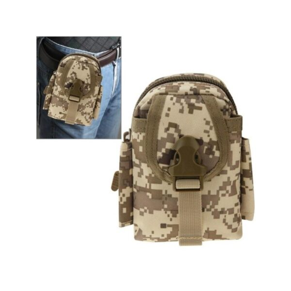 37386 - Прочная поясная сумка Density Bag - нейлон, на молнии, карман, крепление MOLLE / PALS