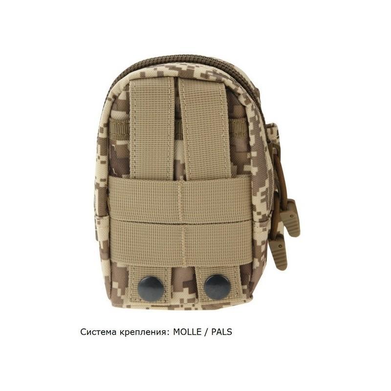 Прочная поясная сумка Density Bag – нейлон, на молнии, карман, крепление MOLLE / PALS 213229