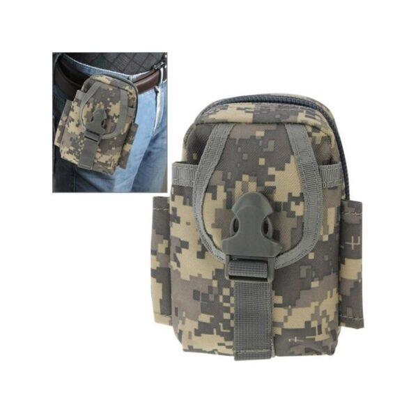37390 - Прочная поясная сумка Density Bag - нейлон, на молнии, карман, крепление MOLLE / PALS