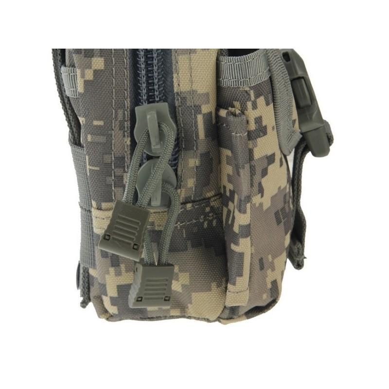 Прочная поясная сумка Density Bag – нейлон, на молнии, карман, крепление MOLLE / PALS 213235