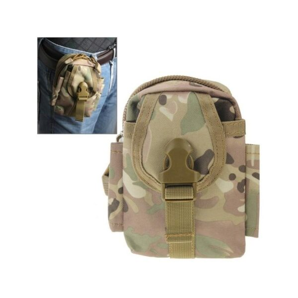 37394 - Прочная поясная сумка Density Bag - нейлон, на молнии, карман, крепление MOLLE / PALS