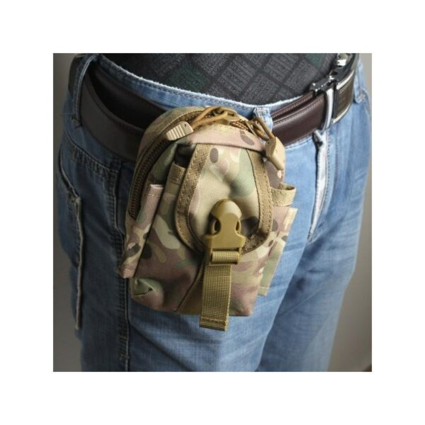 37398 - Прочная поясная сумка Density Bag - нейлон, на молнии, карман, крепление MOLLE / PALS
