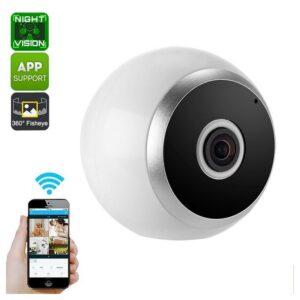 360-градусная IP-камера – обнаружение движения, беспроводная связь, ночное видение, HD, Wi-Fi