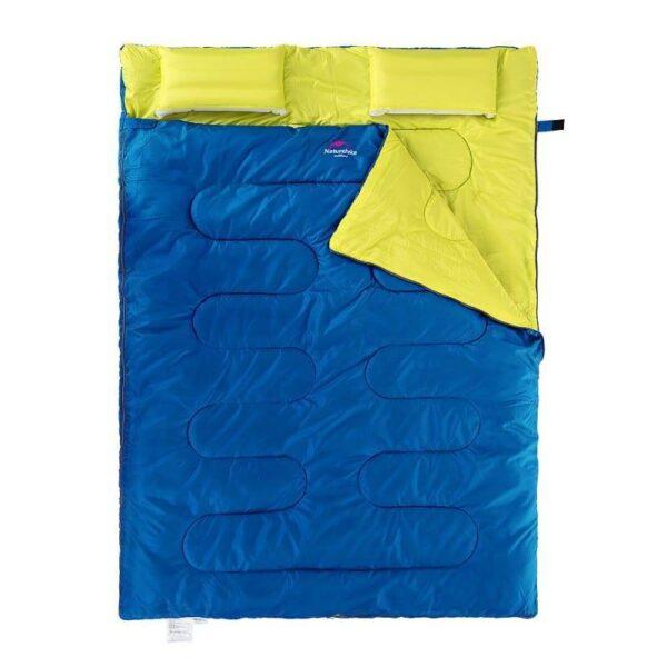 37446 - Двойной спальник с подушками Naturehike
