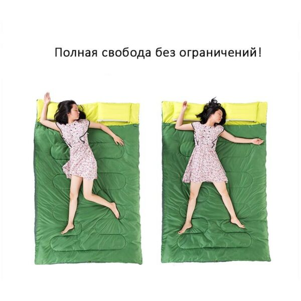 37454 - Двойной спальник с подушками Naturehike