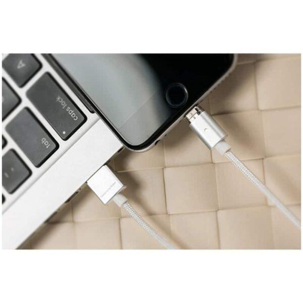 37527 - Магнитный нейлоновый USB-кабель Wsken X-cable Mini 2 для iPhone, Android: Micro-USB/ Lightning для Apple (1 м)