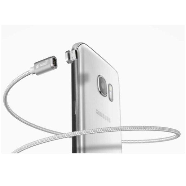 37529 - Магнитный нейлоновый USB-кабель Wsken X-cable Mini 2 для iPhone, Android: Micro-USB/ Lightning для Apple (1 м)