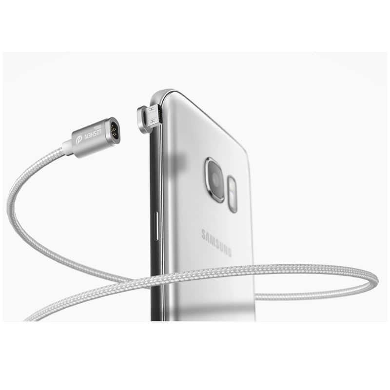 Магнитный нейлоновый USB-кабель Wsken X-cable Mini 2 для iPhone, Android: Micro-USB/ Lightning для Apple (1 м) 213360