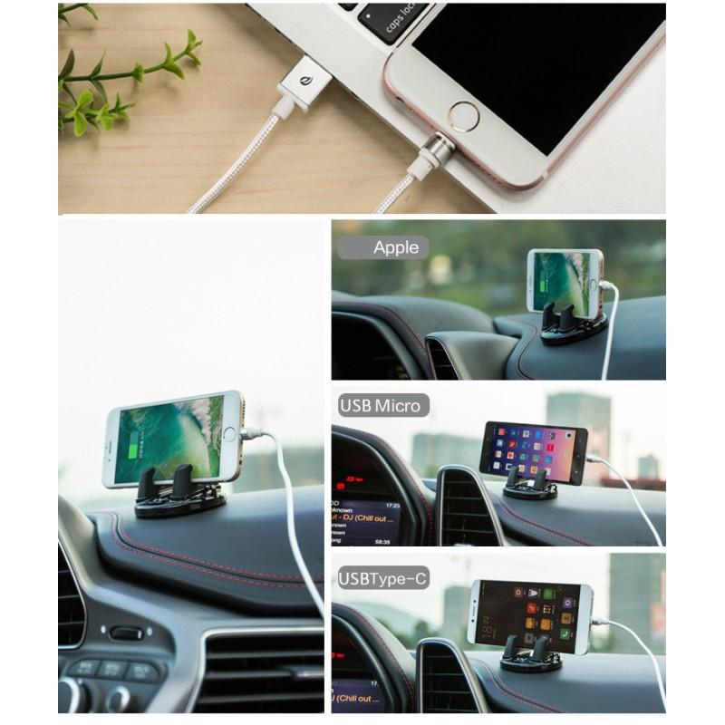 37658 - Магнитный круговой USB-кабель X-cable Wsken для iPhone, Android: коннекторы для Micro-USB/ Lightning (Apple)