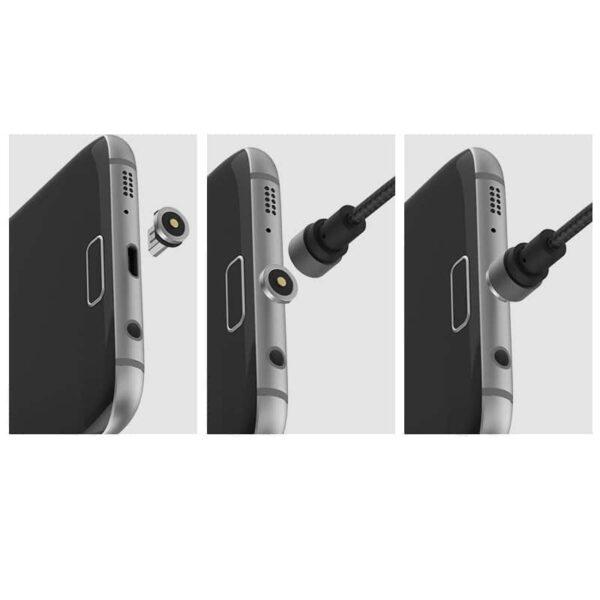37702 - Круговой магнитный USB-кабель X-cable Wsken с коннекторами для всех типов разъемов: Micro-USB/ Lightning (Apple), USB Type-C