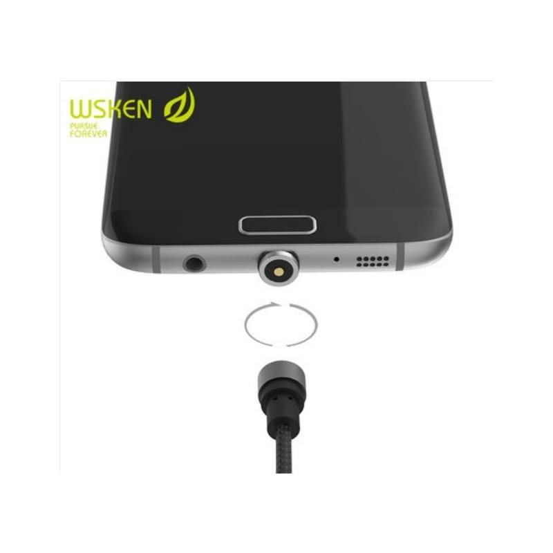 37715 - Круговой магнитный USB-кабель X-cable Wsken с коннекторами для всех типов разъемов: Micro-USB/ Lightning (Apple), USB Type-C