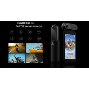Панорамная мини-камера Insta360 One для iPhone: 24Мп, 4К, 360° съемка, Bluetooth-управление, автослежение, Live-видео, IP68