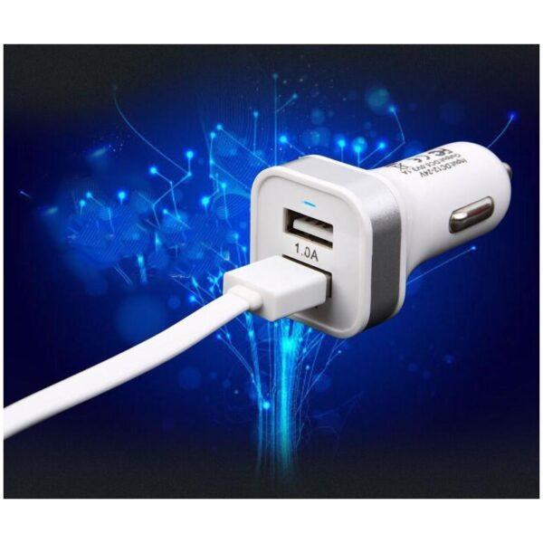 37887 - Автомобильное USB-зарядное для прикуривателя на два выхода: 2,1А/ 1А