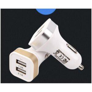 Автомобильное USB-зарядное для прикуривателя на два выхода: 2,1А/ 1А