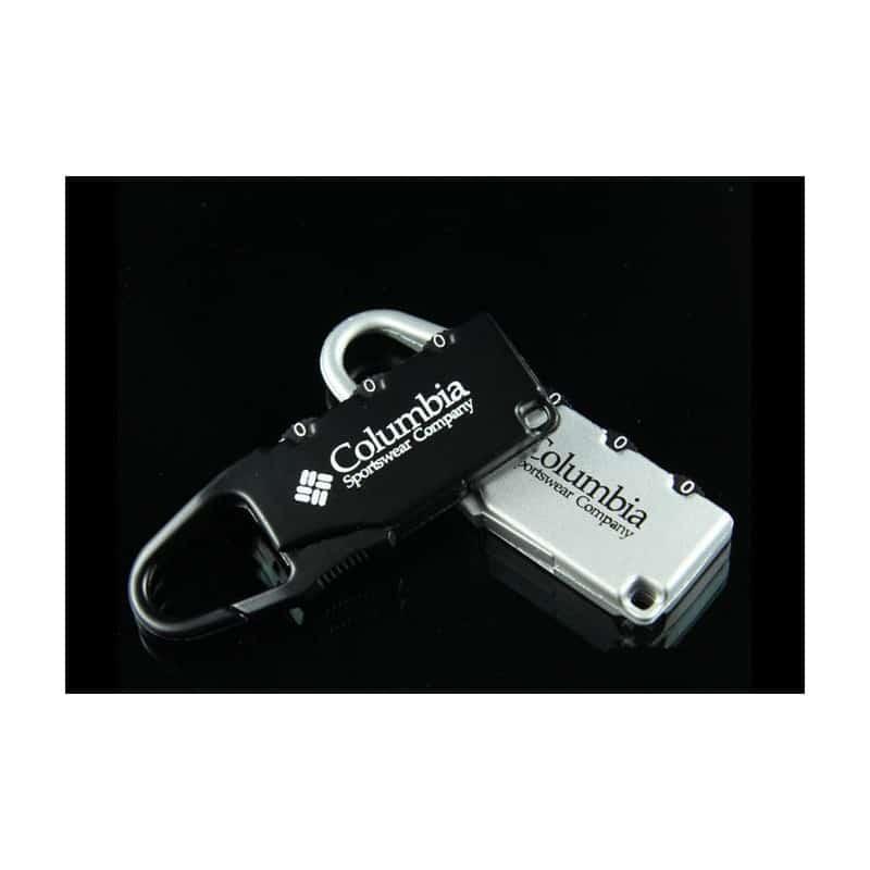 Блокиратор-карабин для дорожной сумки с кодовым замком Columbia 213699