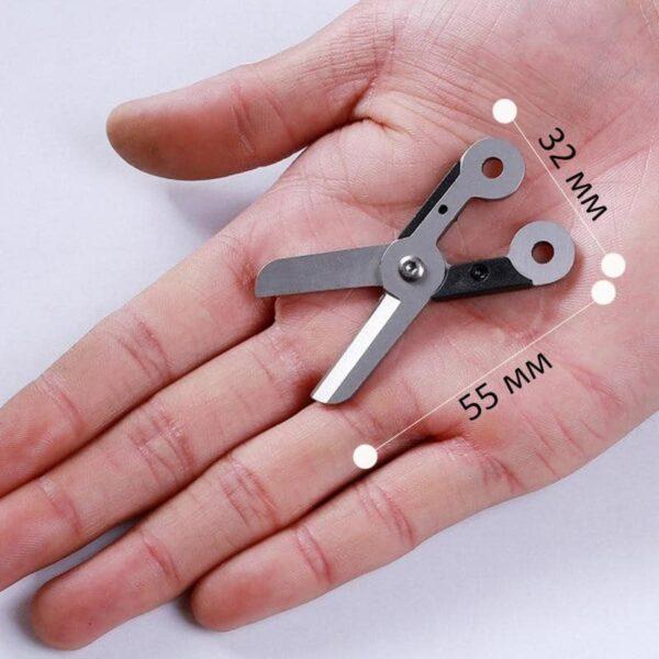 37933 - Стальные EDC мини-ножницы на пружине