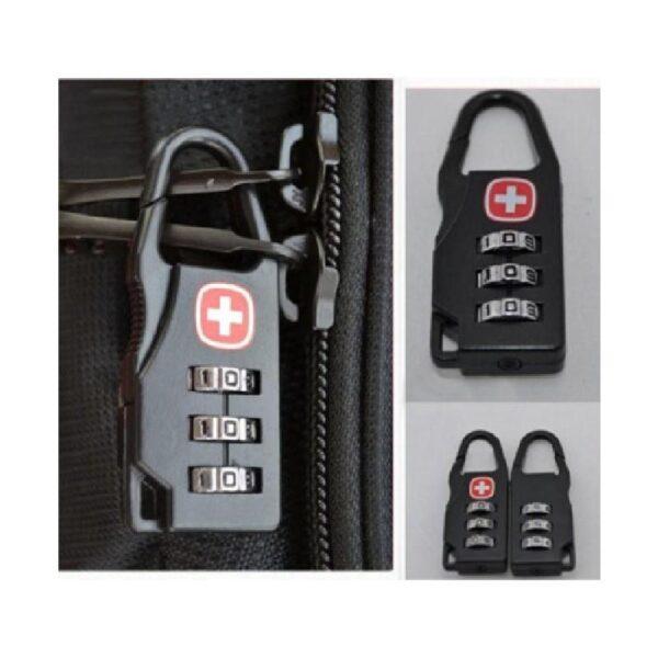 37962 - Кодовый замок-карабин для дорожной сумки