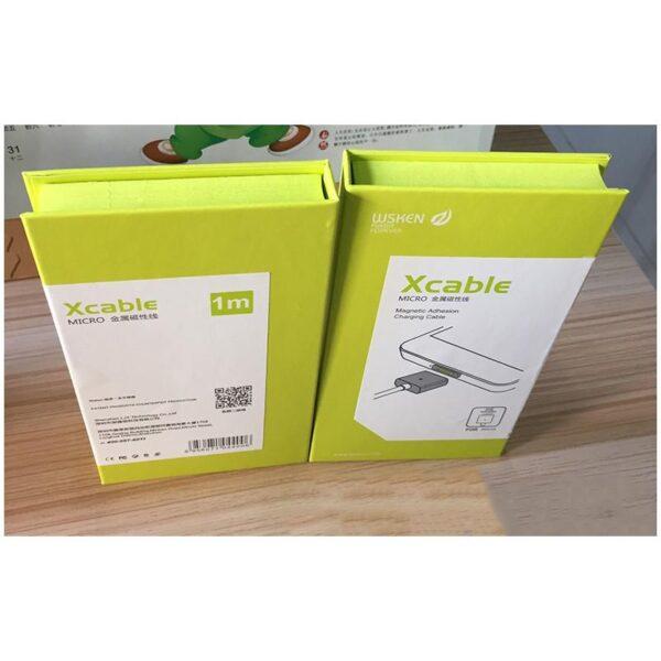 37971 - Магнитный USB-кабель (2,4А) WSKEN X-cable для устройств с Micro-USB: быстрая зарядка
