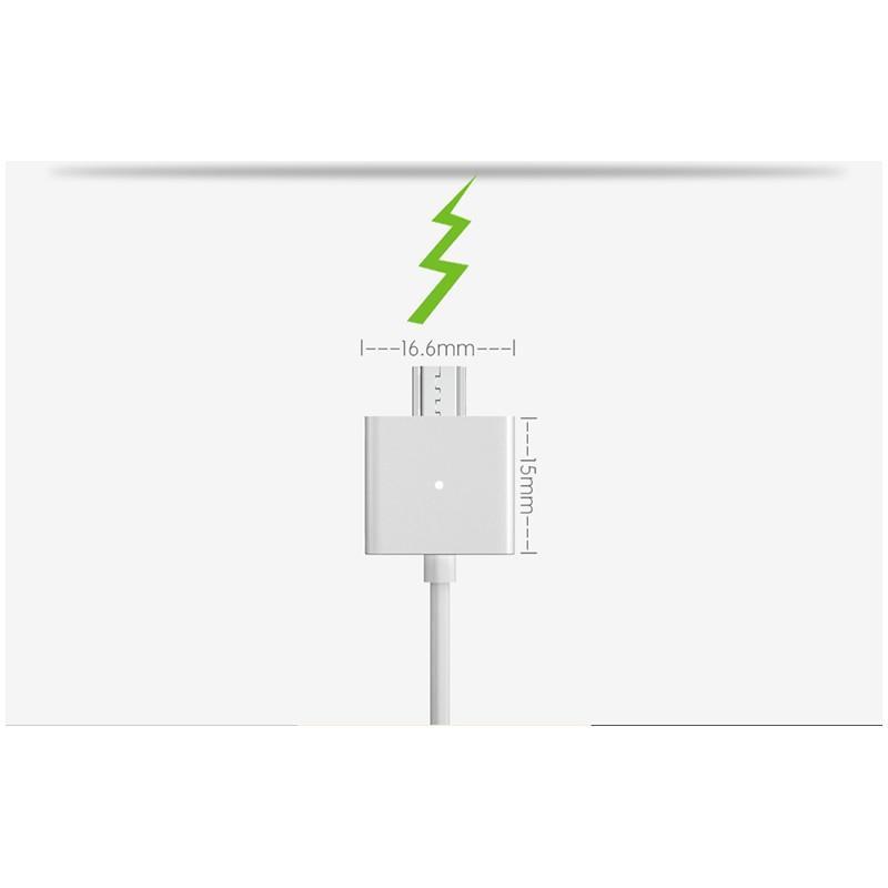 Магнитный USB-кабель (2,4А) WSKEN X-cable для устройств с Micro-USB: быстрая зарядка 213740