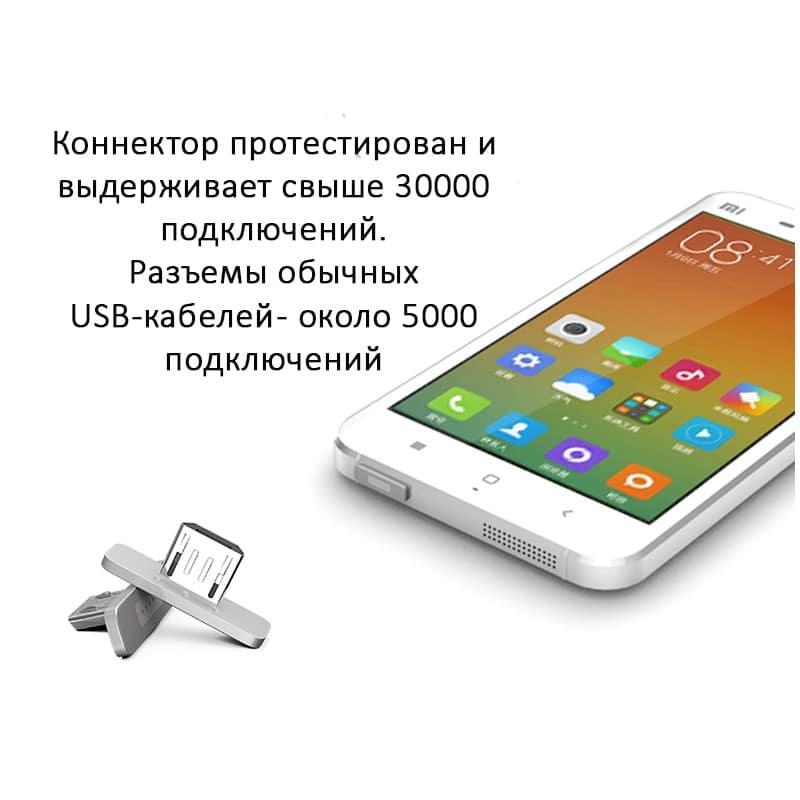Магнитный USB-кабель (2,4А) WSKEN X-cable для устройств с Micro-USB: быстрая зарядка 213744