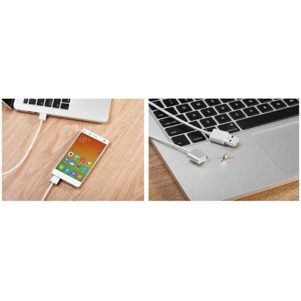 37979 - Магнитный USB-кабель (2,4А) WSKEN X-cable для устройств с Micro-USB: быстрая зарядка
