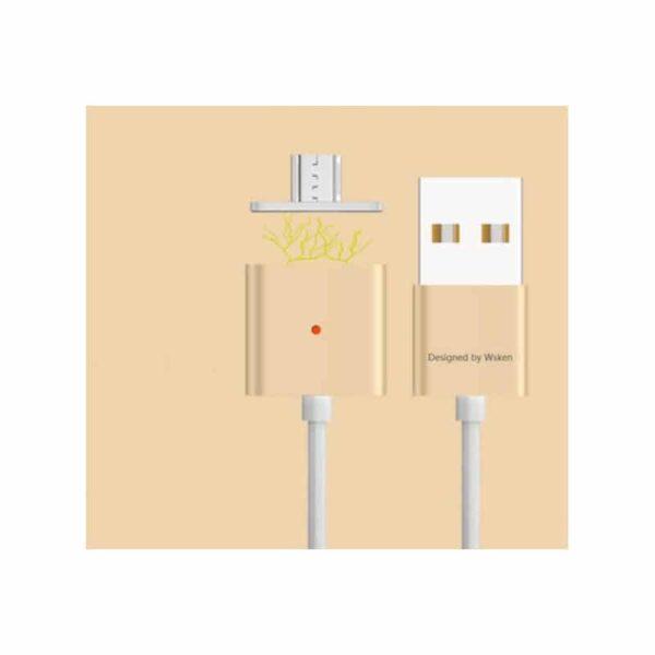 37988 - Магнитный USB-кабель (2,4А) WSKEN X-cable для устройств с Micro-USB: быстрая зарядка
