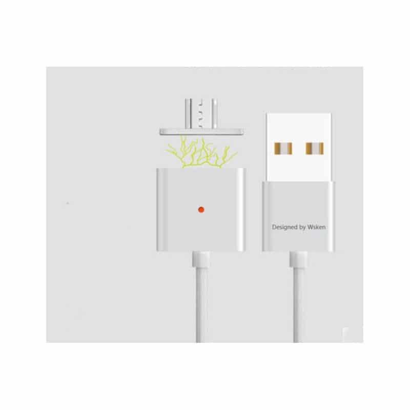 Магнитный USB-кабель (2,4А) WSKEN X-cable для устройств с Micro-USB: быстрая зарядка
