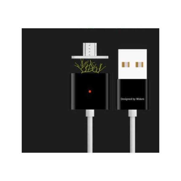 37990 - Магнитный USB-кабель (2,4А) WSKEN X-cable для устройств с Micro-USB: быстрая зарядка