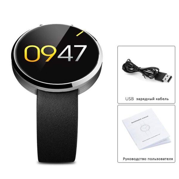 38000 - Спортивные смарт-часы DM360: Bluetooth 4.0, шагомер, пульсометр, звонки+смс, IP53, поддержка Android/ iOS, 320 мАч